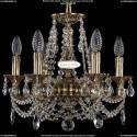 1702/6/CK125IV/C/GB Хрустальная подвесная люстра Bohemia Ivele Crystal