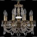 1702/8/CK125IV/C/GB Хрустальная подвесная люстра Bohemia Ivele Crystal