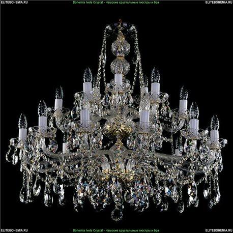 1413/21/360/77 Bohemia Ivele Crystal, Чешская Подвесная люстра с хрустальным рожком