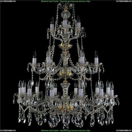 1413/21/360/105 Bohemia Ivele Crystal, Чешская Подвесная люстра с хрустальным рожком