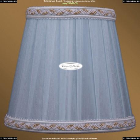 SH4A Абажур светлая лазурь с бело-золотой каймой Bohemia Ivele Crystal
