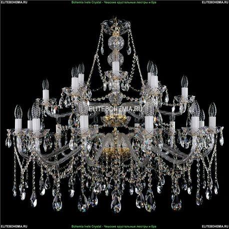 1413/21/400/87 Bohemia Ivele Crystal, Чешская Подвесная люстра с хрустальным рожком