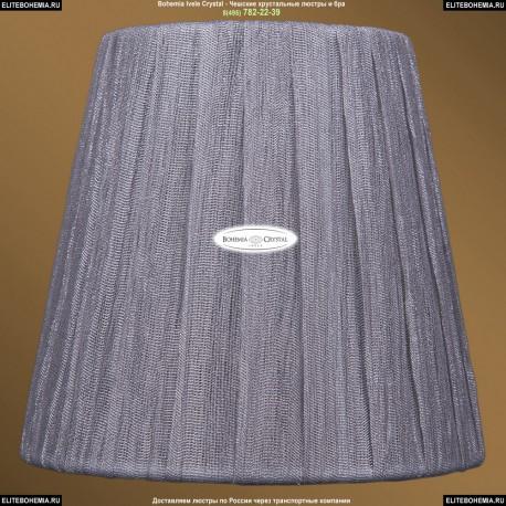 SH6 Абажур серебряный индийский шелк Bohemia Ivele Crystal