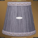 SH6A Абажур серебряный индийский шелк с бело-золотой каймой Bohemia Ivele Crystal