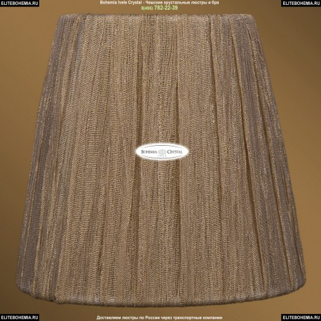 SH7 Абажур Золотой индийский шелк Bohemia Ivele Crystal