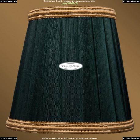 SH10B Абажур зеленый с золотой каймой Bohemia Ivele Crystal