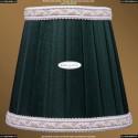 SH10A Абажур зеленый с бело-золотой каймой Bohemia Ivele Crystal