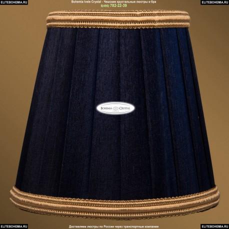 SH11B Абажур Синий золотой каймой Bohemia Ivele Crystal