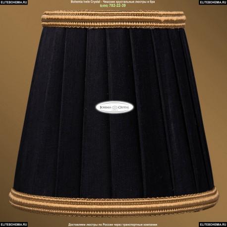 SH12B Абажур черный с золотой каймой Bohemia Ivele Crystal
