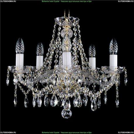 1413/5/165 Bohemia Ivele Crystal, Чешская Подвесная люстра с хрустальным рожком