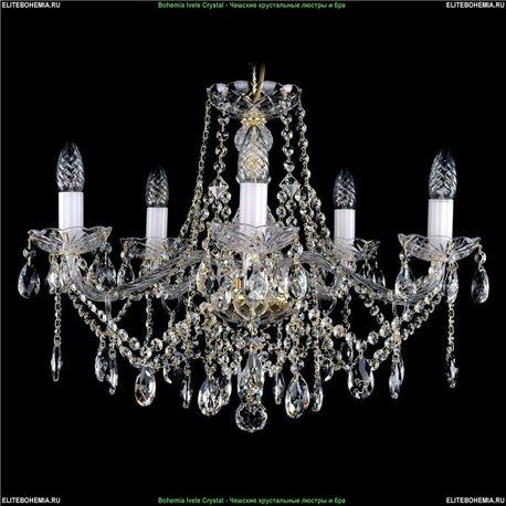 1413/5/200 Bohemia Ivele Crystal, Чешская Подвесная люстра с хрустальным рожком