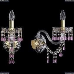 1410B/1/195/XL/G/V7010 Хрустальное бра Bohemia Ivele Crystal