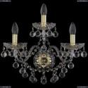 1409B/2+1/195/XL/G Хрустальное бра Bohemia Ivele Crystal