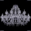 1403/16+8/460/Ni Хрустальная подвесная люстра Bohemia Ivele Crystal