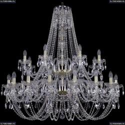 1406/16+8/400/2d/G Хрустальная подвесная люстра Bohemia Ivele Crystal