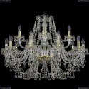 1409/10+5/300/G Подвесная люстра Bohemia Ivele Crystal (Богемия), 1409