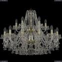 1409/12+6/300/2d/G Хрустальная подвесная люстра Bohemia Ivele Crystal