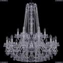 1409/12+6/300/h-94/2d/Ni Хрустальная подвесная люстра Bohemia Ivele Crystal