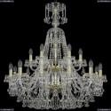 1409/12+6/300/XL-94/2d/G Хрустальная подвесная люстра Bohemia Ivele Crystal