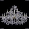 1409/12+6/360/G Хрустальная подвесная люстра Bohemia Ivele Crystal
