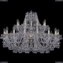 1409/16+8/360/G Хрустальная подвесная люстра Bohemia Ivele Crystal