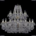 1409/20+10/360/2d/G Хрустальная подвесная люстра Bohemia Ivele Crystal