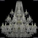 1409/20+10+5/400/3d/G Хрустальная подвесная люстра Bohemia Ivele Crystal