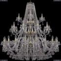 1409/20+10+5/460/3d/G Хрустальная подвесная люстра Bohemia Ivele Crystal