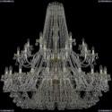 1409/24+12+6/530/2d/G Хрустальная подвесная люстра Bohemia Ivele Crystal