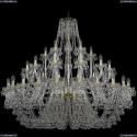 1409/24+12+6/530/G Хрустальная подвесная люстра Bohemia Ivele Crystal