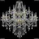 1415/12+6/300/2d/G Хрустальная подвесная люстра Bohemia Ivele Crystal