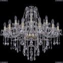 1415/12+6/300/G Хрустальная подвесная люстра Bohemia Ivele Crystal