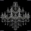 1415/12+6/360/2d/Ni Хрустальная подвесная люстра Bohemia Ivele Crystal