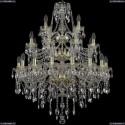 1415/16+8+4/300/3d/G Хрустальная подвесная люстра Bohemia Ivele Crystal