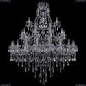 1415/20+10+5/460/3d/Ni Хрустальная подвесная люстра Bohemia Ivele Crystal