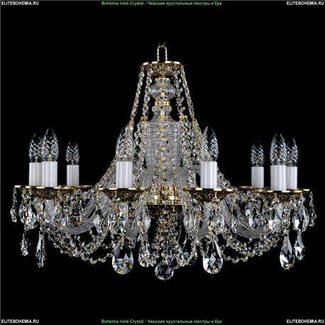 1604/10/240 Bohemia Ivele Crystal, Чешская Подвесная люстра с литым рожком