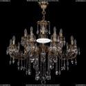 1702/10+10/300+150/B/FP Большая хрустальная подвесная люстра Bohemia Ivele Crystal
