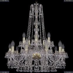1409/10+5/240/h-77/G Хрустальная подвесная люстра Bohemia Ivele Crystal