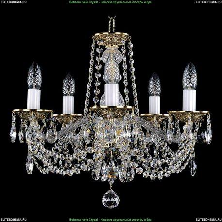 1614/5/165 Bohemia Ivele Crystal, Чешская Подвесная люстра с литым рожком