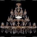 1702/16+8+8/335+265/A/FP Большая хрустальная подвесная люстра Bohemia Ivele Crystal