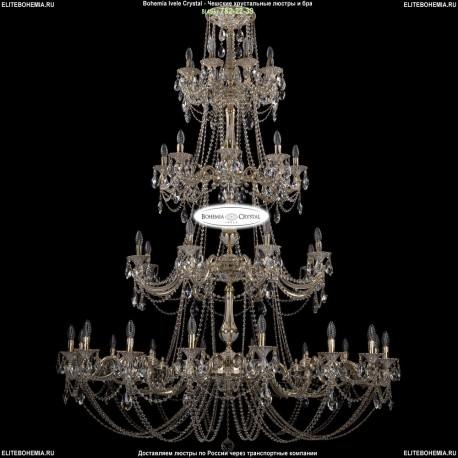 1702/16+8+8+8/335+265/C/GW Большая хрустальная подвесная люстра Bohemia Ivele Crystal