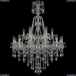 1415/12+6/300/XL-114/2d/Ni Хрустальная подвесная люстра Bohemia Ivele Crystal