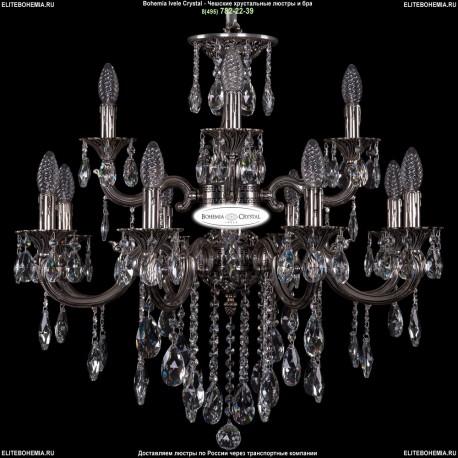 1702/8+4/265+181/B/NB Хрустальная подвесная люстра Bohemia Ivele Crystal