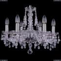 1410/6/160/Ni/V0300 Хрустальная подвесная люстра Bohemia Ivele Crystal