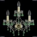 1410B/2+1/141/G/V5001 Хрустальное бра Bohemia Ivele Crystal