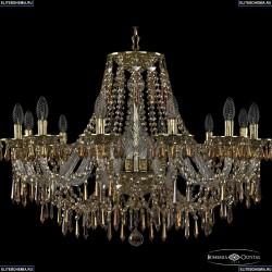 16103/12/300 G R777 Хрустальная подвесная люстра с металлической чашкой Bohemia Ivele Crystal (Богемия), 1603