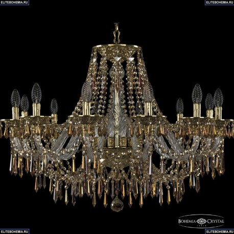 16103/12/300 G R777 Хрустальная подвесная люстра с металлической чашкой Bohemia Ivele Crystal