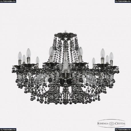 16109/12/300 NB R731 Хрустальная подвесная люстра с металлической чашкой Bohemia Ivele Crystal