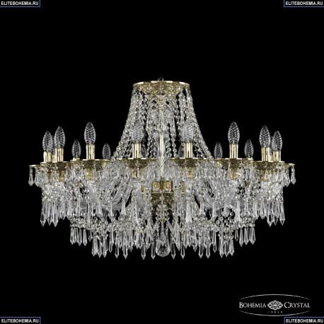 16103/16/300 G Хрустальная подвесная люстра с металлической чашкой Bohemia Ivele Crystal