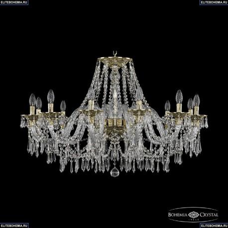 16103/12/360 G Хрустальная подвесная люстра с металлической чашкой Bohemia Ivele Crystal